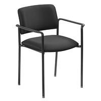 Grand & Toy 500 Plus Series Armchair, Black, Crystal Fabric