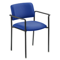 Grand & Toy 500 Plus Series Armchair, Blue, Crystal Fabric