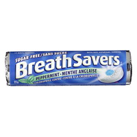 BreathSavers Mints, Peppermint, 22 g/Roll, 18 Rolls/PK