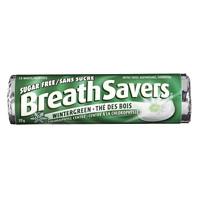 BreathSavers Mints, Peppermint, Wintergreen, 22 g/Roll, 18 Rolls/PK