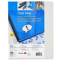 Couvertures de présentation de format lettre Clear View GBC Swingline