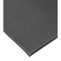 Mat Tech Tuff-Spun Ribbed Surface Anti-Fatigue Mat, Black, 3' x 5'