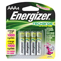 Energizer AAA NiMH Universal Rechargeable Batteries