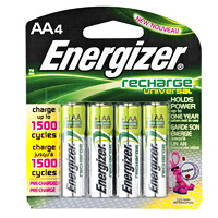 Energizer AA NiMH Universal Rechargeable Batteries