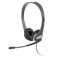 Cyber Acoustics Headset With Boom Mic, Stereo