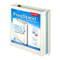Reliure de format lettre (8 1/2po x 11po) à anneaux en «D» inclinés verrouillables FreeStand ClearVue EasyOpen Cardinal