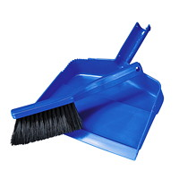 Vileda Professional Dust Pan and Banister Brush Set, Blue