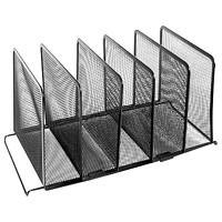 Range-tout de bureau en mailles noires à 5 sections Winnable