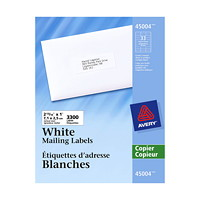 Avery 45004 Mailing Labels - For Copiers, White, 2 13/16