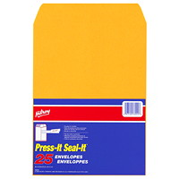 Hilroy Press-It Seal-It Self-Adhesive Kraft Business Envelopes