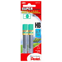 Pentel Super Hi-Polymer 0.7 mm Pencil Refill Leads, Grade: HB