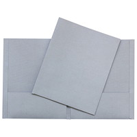Hilroy Twin-Pocket Traditional-Style Portfolios, Grey, Letter Size