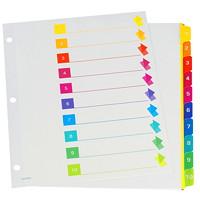 Intercalaires à onglets numérotés à codage couleur Oxford