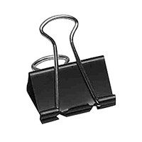 Grand & Toy Heavy-Duty Fold-Back Binder Clips, Black, Medium Size (1 1/4