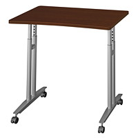 Bush Series C Height-Adjustable Mobile Table