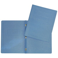 Hilroy 3-Prong Report Cover, Blue, Letter Size