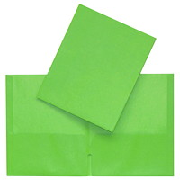 Hilroy Twin-Pocket Traditional-Style Portfolios, Green, Letter Size