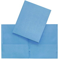 Hilroy Twin-Pocket Traditional-Style Portfolios, Light Blue, Letter Size