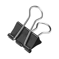 Acco Fold-Back Binder Clips, Black/Silver, 1
