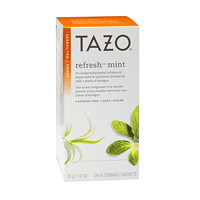 Tisane Refresh Mint Tazo, boîte de 24