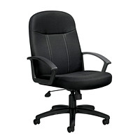 Offices To Go Altona High-Back Tilter Chair, Black, Quilt Fabric