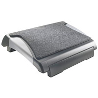 Grand & Toy Adjustable Footrest With Pad, Black/Grey
