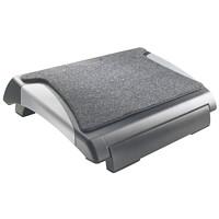 Repose-pieds réglable avec tapis Grand & Toy, noir et gris