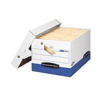 Boîte de rangement robuste à assemblage instantané Presto Bankers Box avec poignées ergonomiques, format lettre (81/2pox 11po) ou légal (81/2pox 14po)