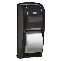 Tork Elevation High-Capacity Bath Tissue Roll Dispenser, Black