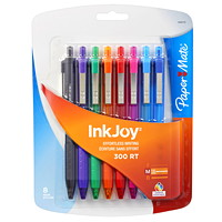 Paper Mate InkJoy 300 Retractable Ballpoint Pens, Medium, 1.0 mm
