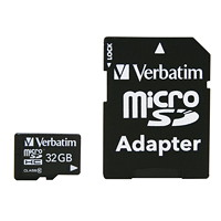 Verbatim 32 GB MicroSDHC Card with Adapter
