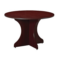 Star Quality Zeta Figured Mahogany Round Conference Table, 48
