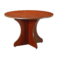 Star Quality Zeta Henna Cherry Round Conference Table, 48