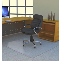 Deflecto Studded-Back Polycarbonate Rectangular Chairmat