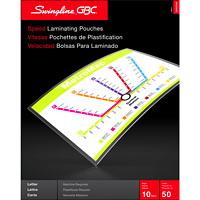Pochettes transparentes de format lettre pour plastification thermique rapide LongLife EZUse GBC Swingline