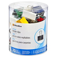 OfficeMax Fold-Back Binder Clips