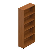 Offices To Go Ionic 5-Shelf Bookcase, Winter Cherry, 30