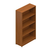 Offices To Go Ionic 4-Shelf Bookcase, Winter Cherry, 30