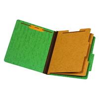 Chemise de couleur vert à intercalaires format lettre (8 1/2 po x 11 po) Pendaflex