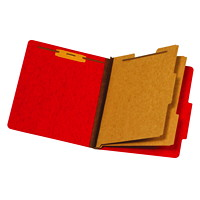 Chemise de couleur rouge format lettre (8 1/2 po x 11 po) à intercalaires Pendaflex