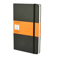 Moleskine Classic Notebook, Ruled, Black, 5