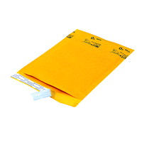 Ecolite Self-Adhesive Bubble Mailers, Kraft, #0, 25/CT