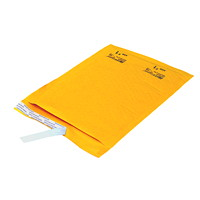 Ecolite Self-Adhesive Bubble Mailers, Kraft, #1, 25/CT