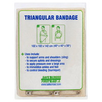SAFECROSS Triangular Bandage, Non-Compressed, Single Pack
