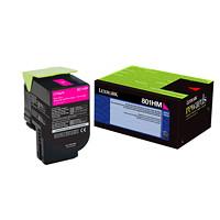 Cartouche de toner à rendement élevé Lexmark CX410, CX510 Programme de retour (80C1HM0), magenta