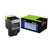 Lexmark 801SK Black Standard Yield Return Program Toner Cartridge (80C1SK0)
