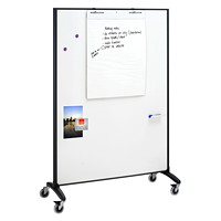 Quartet Motion Double-Sided Room Divider/Easel, 4' x 6'