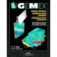 Porte-badges à chargement par le haut avec cordon réglable Gemex, 4 po x 3 po