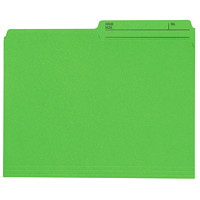Grand & Toy Coloured File Folders, Green, Letter-Size, 100/BX