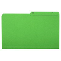 Grand & Toy Coloured File Folders, Green, Legal-Size, 100/BX